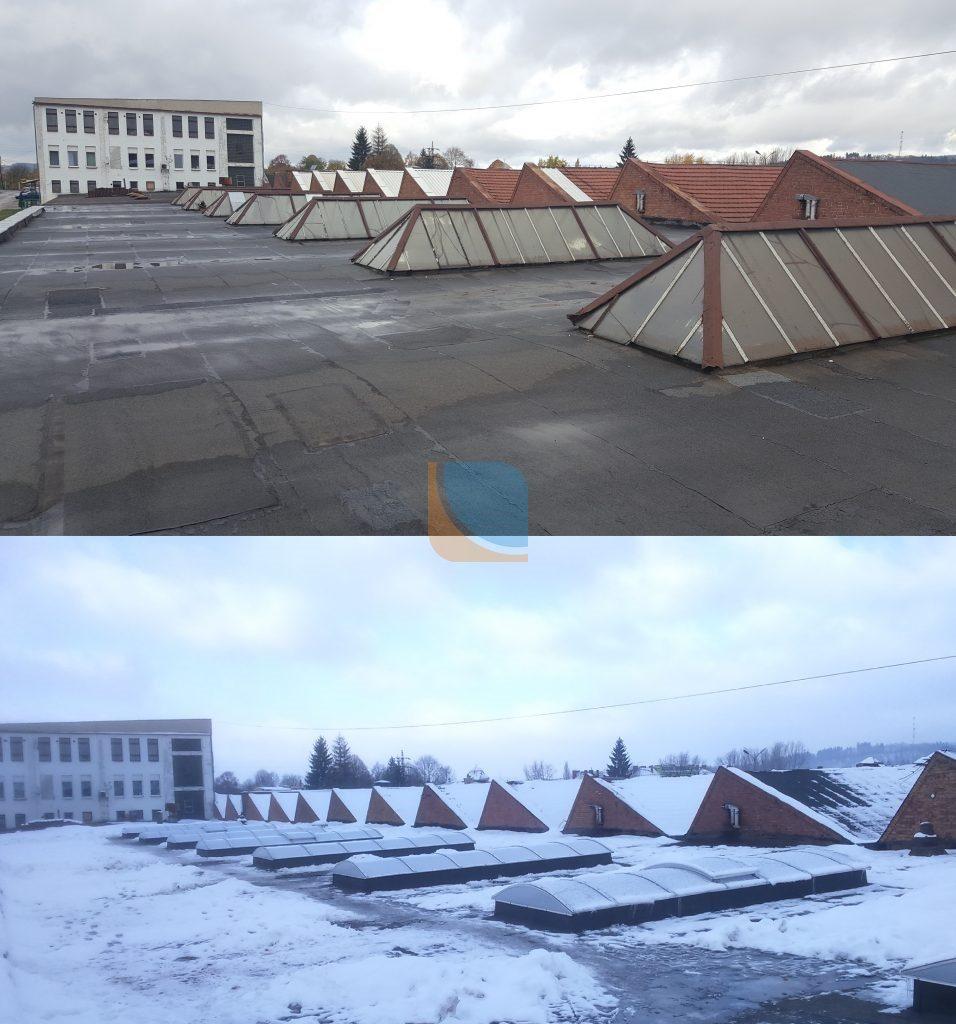 Remont naświetla dachowego