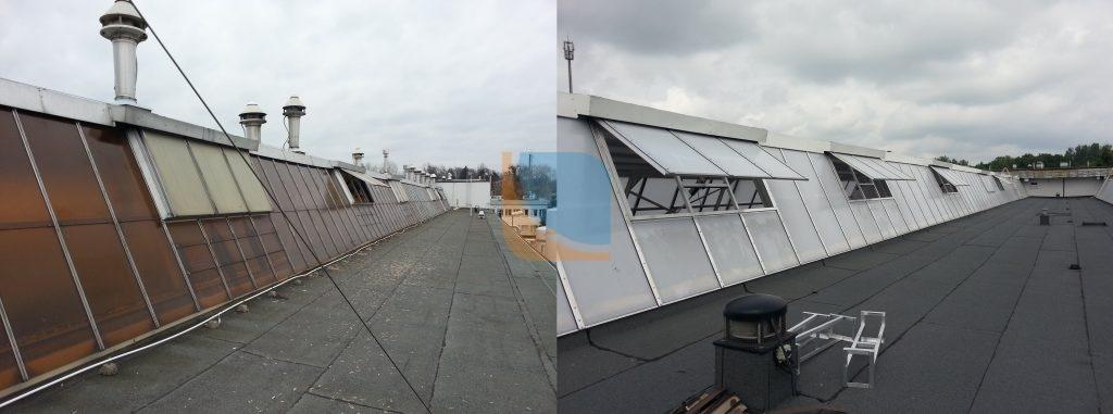 Modernizacja naświetli dachowych