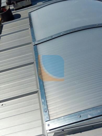 świetlik dachowy zamontowany