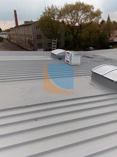 dwa punktowe świetliki dachowe