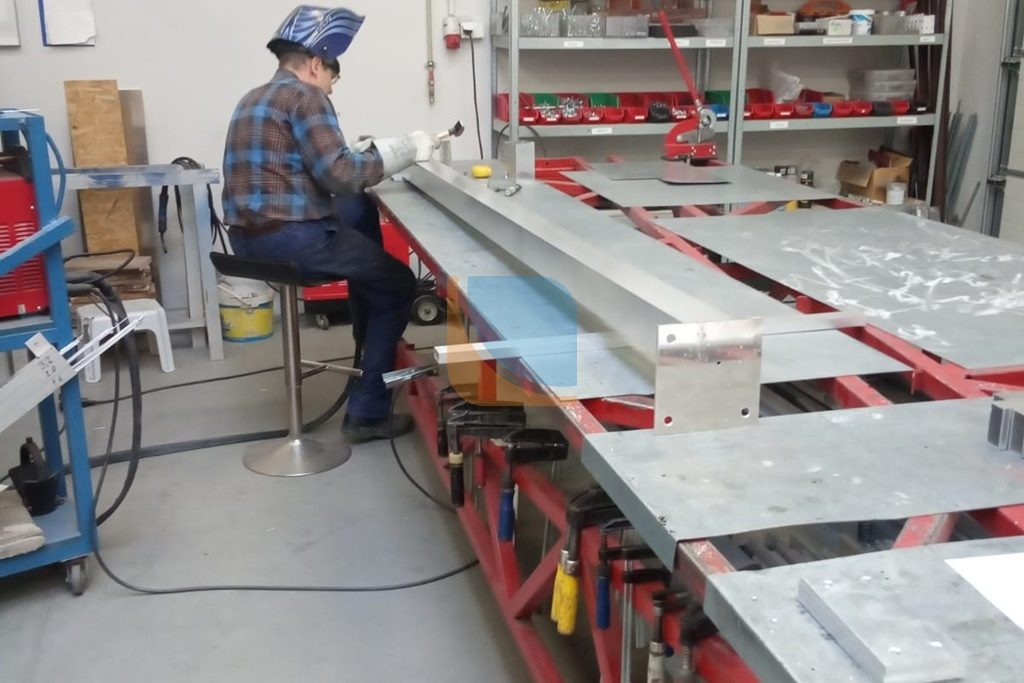 Spawanie konstrukcji aluminiowej
