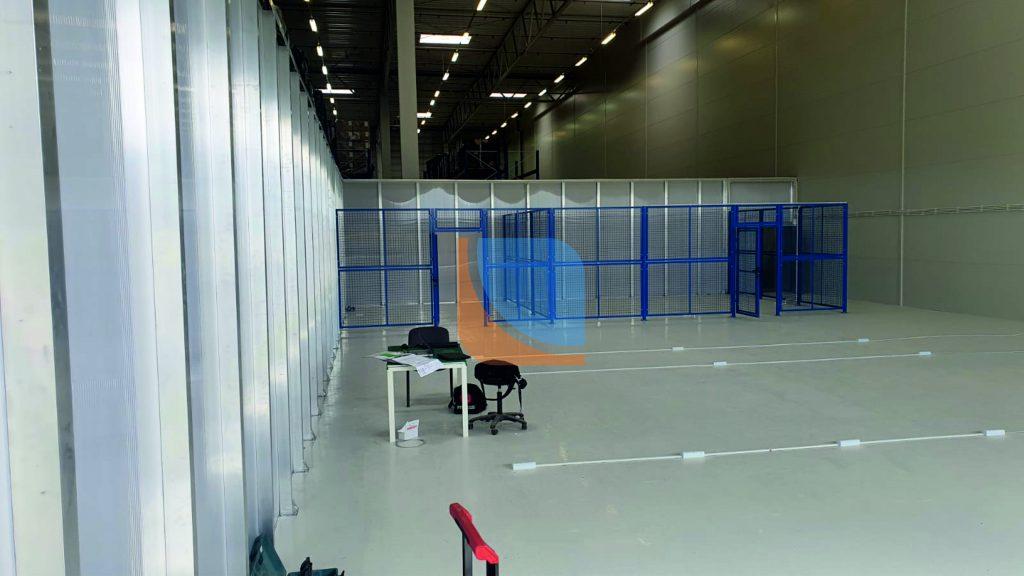 Zakończona realizacja ściany działowej na hali produkcyjnej